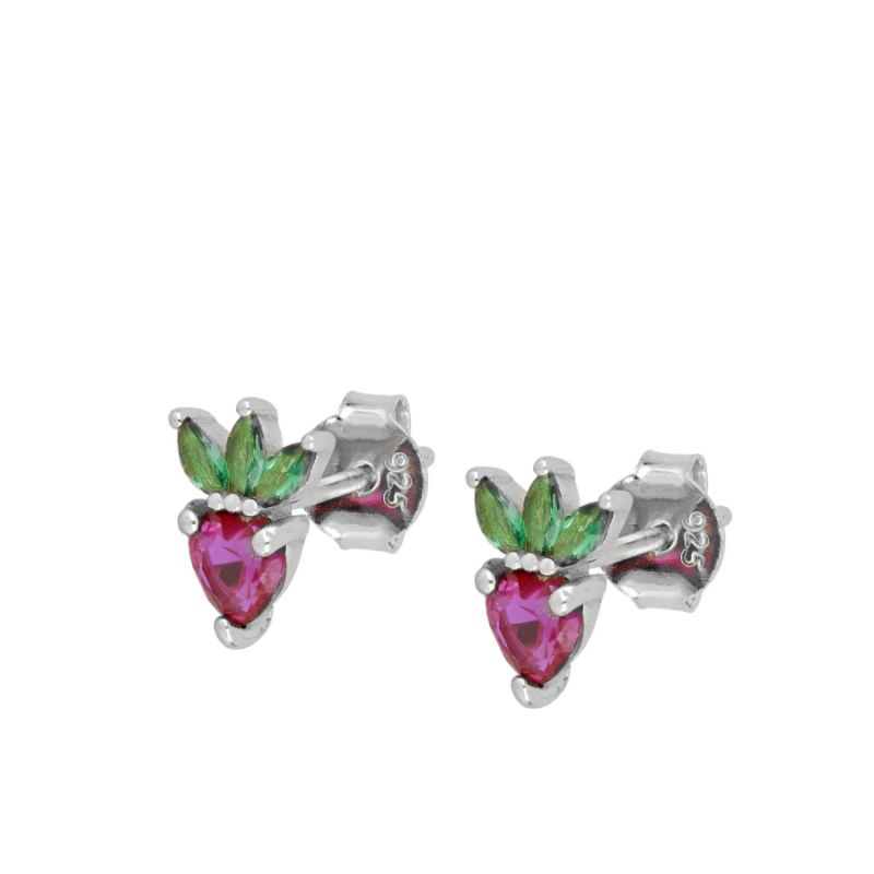 PENDIENTES STRAWBERRY SILVER
