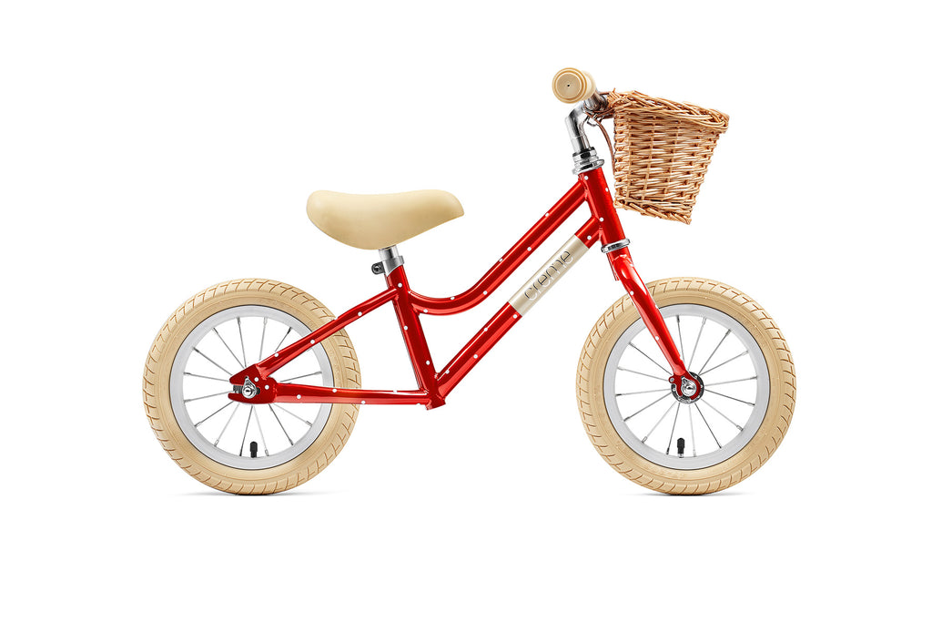 Creme Mia Balance Bike - Red Polkadot