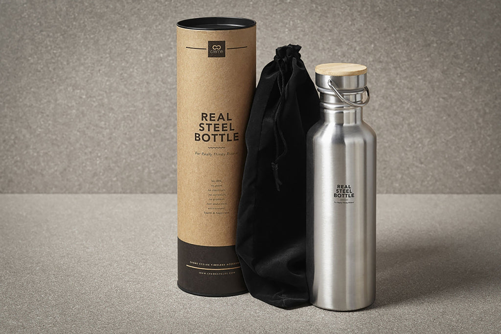 Creme steel Bottle and Cage set