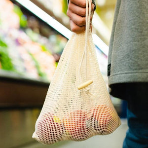 sustainable, zero waste, earth-friendly, plastic-free Organic Cotton Mesh Produce Bags | 2 Pack - Bamboo Switch