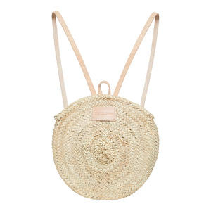 Straw Backpack with zip, Basket Bag by Henrietta Spencer
