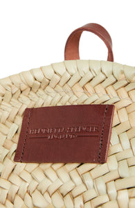 round Basket Bag Henrietta Spencer | Straw Backpack