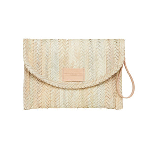 Henrietta Spencer woven Clutch Bag leather straps