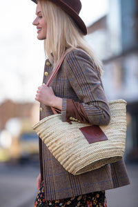 Woven straw bag | Henrietta Spencer Basket Bag