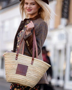The Chelsea (Walnut) Woven Basket Tote