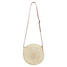 straw small round basket bag