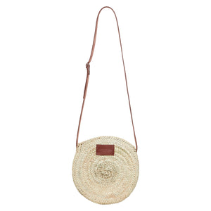 Small round basket bag with zips by Henrietta Spencer