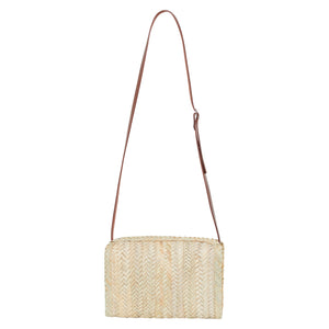 Henrietta Spencer Straw rattan bag with zip