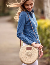 small round straw bag | Henrietta Spencer