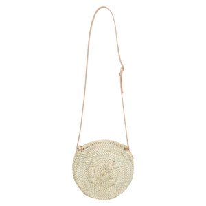 Small Straw bag with Zip from Henrietta Spencer Basket Bags