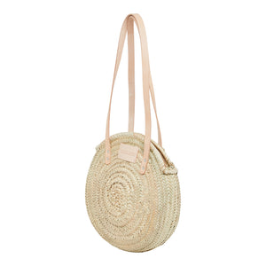 The Lavenham Large round basket bag by Henrietta Spencer