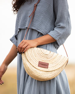 The Cheshire (Half moon Basket Bag)