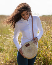 round straw small basket bag | Henrietta Spencer