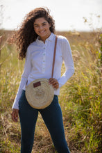 straw round basket bag by Henrietta Spencer