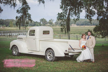 Ceremony Arrival in Chauffeured Vintage Truck