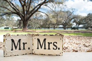 Rustic Mr. & Mrs. Signs