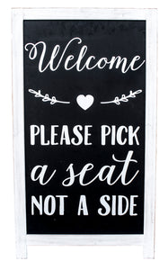 Pick a Seat Sign