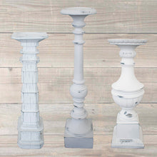 Tall White Candle Holders