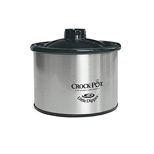 Crockpot SCV803 SS 8 Quart Manual Slow Cooker With 16 Oz Little Dipper Food Warmer