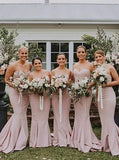 Spaghetti Straps Mermaid Simple Long Cheap Bridesmaid Dresses Online, WG264