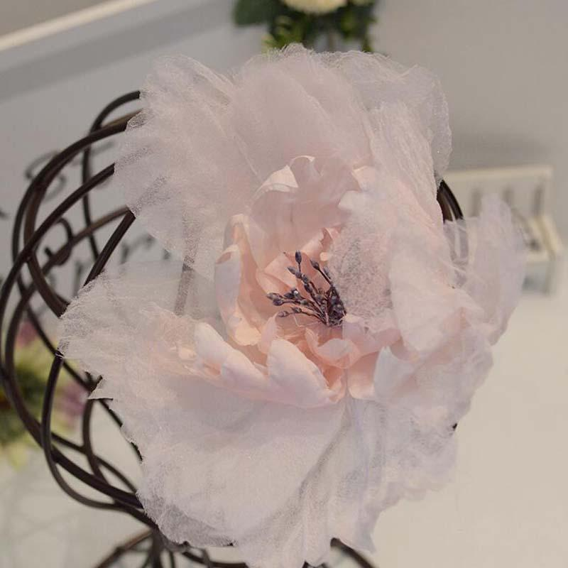 Beautiful Pink Flower Headpiece, Bridal Headpieces, Wedding Headpieces, VB0667
