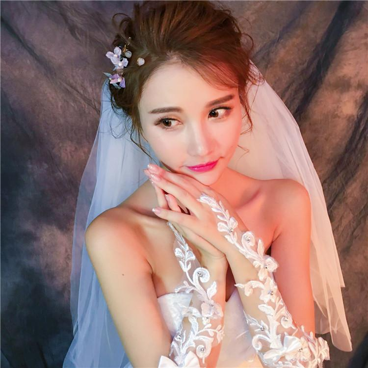 Short Fingerless Beaded And Rhinestone wedding Gloves, Women Bridal Gloves, TYP0632