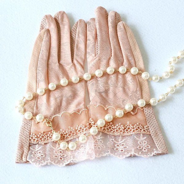 Bridal Gloves, White Lace Short Full Finger Bridal Gloves, Wedding Gloves, Wedding Accessory, TYP0554