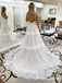 New Arrival Spaghetti Straps Long Cheap Beach Wedding Dresses, WDS0037
