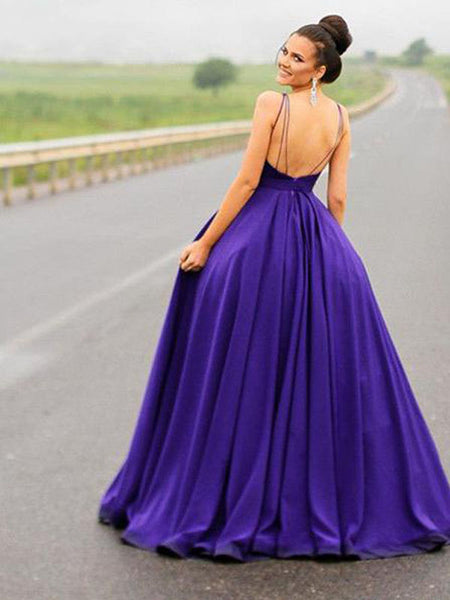 Purple and Grey Inexpensive Formal Dresses