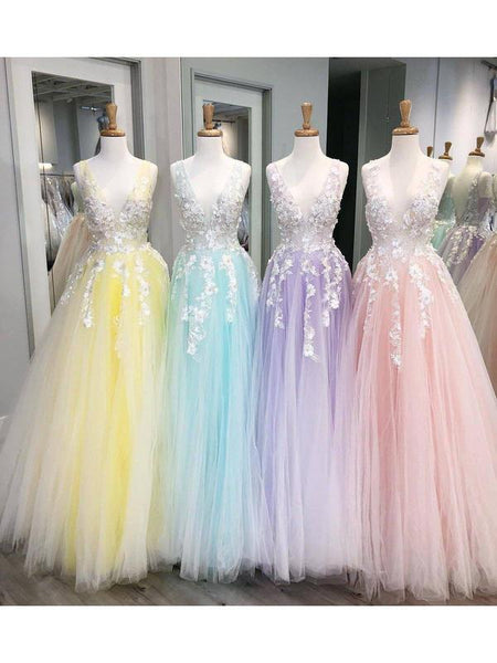 Blush Pink Lace Applique Ball Gown Long Ball Gowns Short Prom Dresses, QB0298