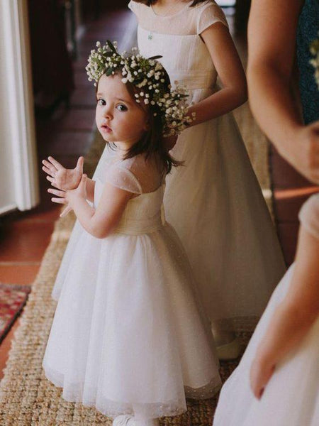 e2e51d932ff3 Cheap Toddler Flower Girl Dresses Ivory Rustic Baby Flower Girl Dresses,  QB0270