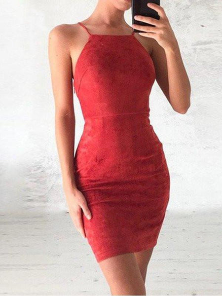 Cheap Lace Tight Red Short Tight Homecoming Dresses 2018, CM432