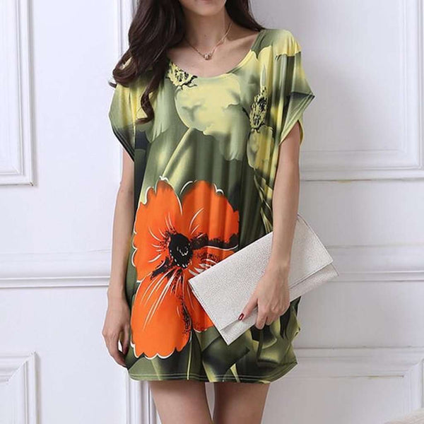 Abstract Print Women's Tshirt Dress - Plus sizes only - 23 Prints to pick from