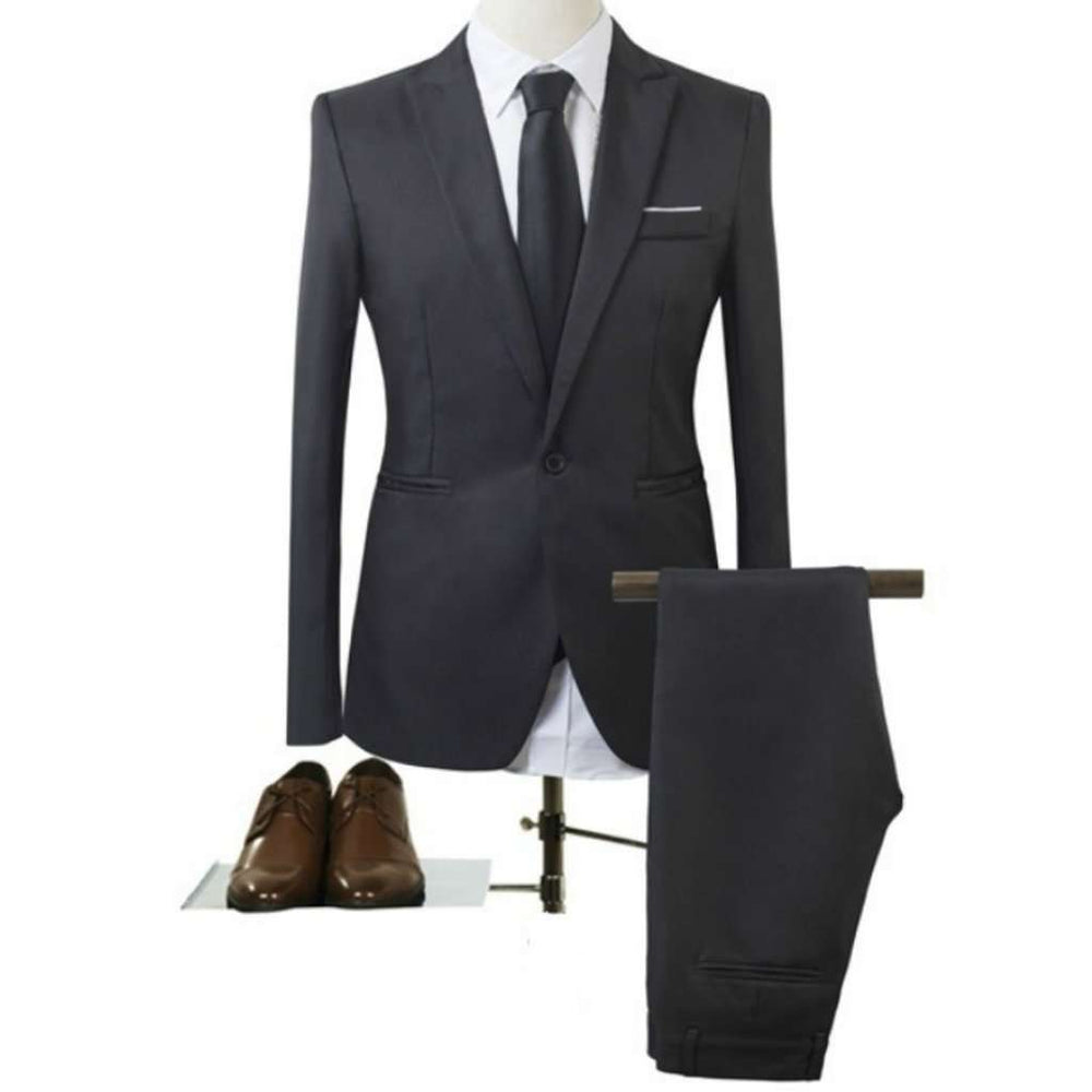 High Quality Men Suits Blazer Set Business Casual Groom Wedding Dress Men Blazer and Pants Groom Tuxedos