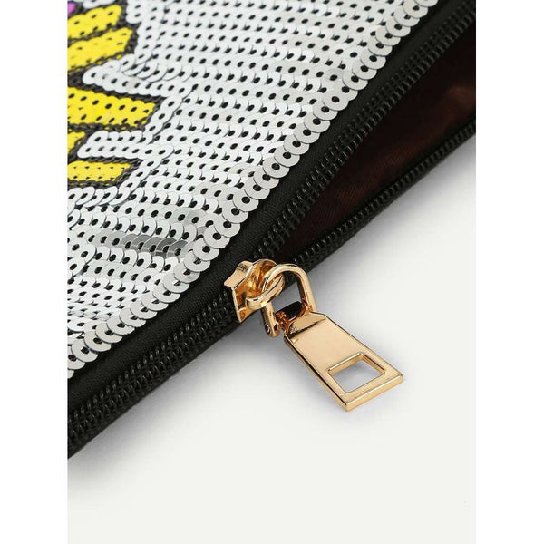 French Fries Pattern PU Clutch Bag