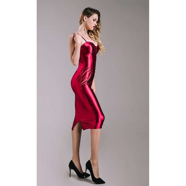Knee Length Fitted Sexy Dress
