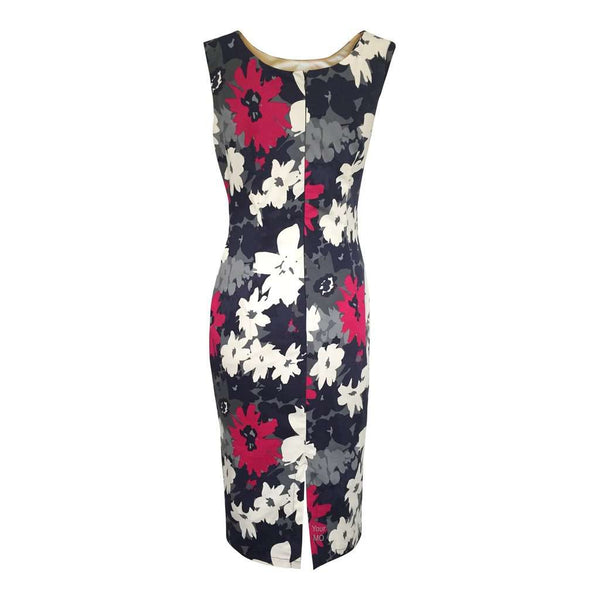 M&S Marks & Spencer Blue Pink Floral Bodycon Dress Size 8 - 18