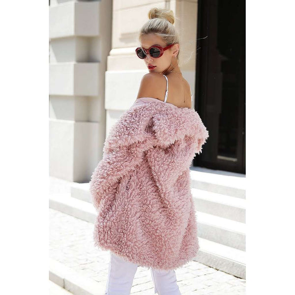 Faux Fur Long Casual Coat