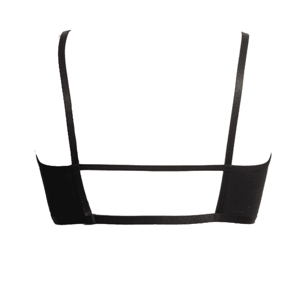 Sexy Keyhole Bralette with Geometric Back - Comes in Black