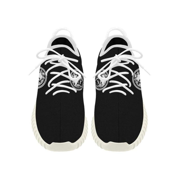 Mens Large Lion Black-White Trainers Grus Breathable
