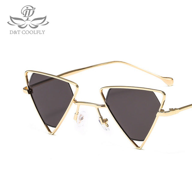 D&T 2019 Fashion Triangular Sunglasses Women Famous Brand Luxury Designer Vintage Trendy Sunglasses White Black Glasses UV400