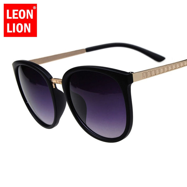 LEONLION Oversized Round Sunglasses Women Brand Designer Luxury Fashion Eyeglasses Big Shades Sun Glasses Retro Zonnebril Dames