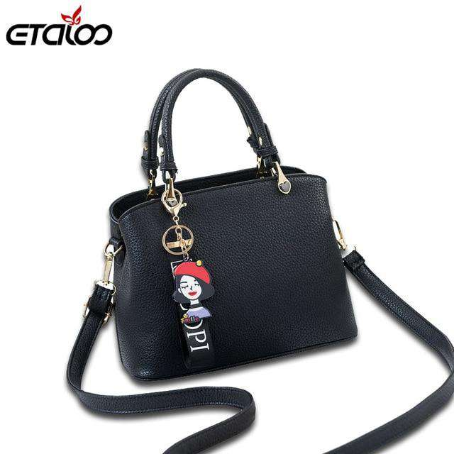Women Hangbag Vintage Shoulder Bags 2018 Buckle PU Leather Handbags Crossbody Bags For Women Famous Brand Spring Sac