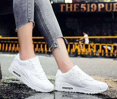Women Shoes 2018 New Fashion Autumn Breathable Mesh Sapato Feminino Women Casual Shoes Thick Bottom Lightweight Women Sneakers