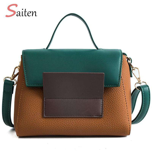 Women's PU Leather Vintage Shoulder Messenger Bag Female  Casual multifunction Small Crossbody Flap hangbag Woman Messenger Bags