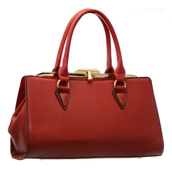 Women's Shoulder Handbag Leather With Gold Accents