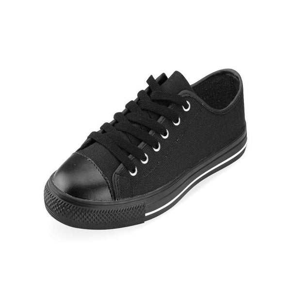 Mens Black Classic Canvas Large Size Shoes