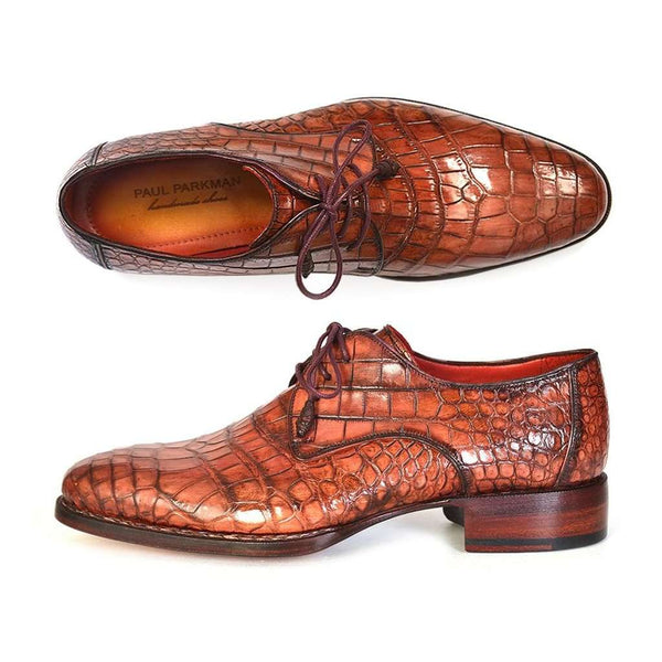 Paul Parkman Genuine Crocodile Goodyear Welted Derby Shoes (ID#44Z87)