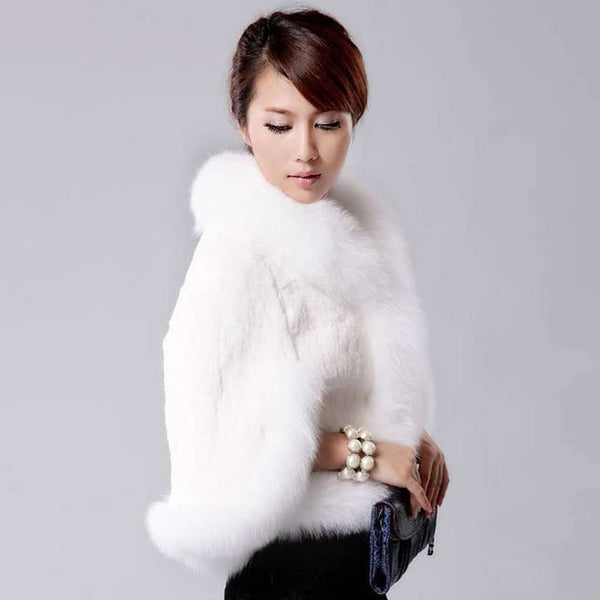 Fur Faux Cape Overcoat