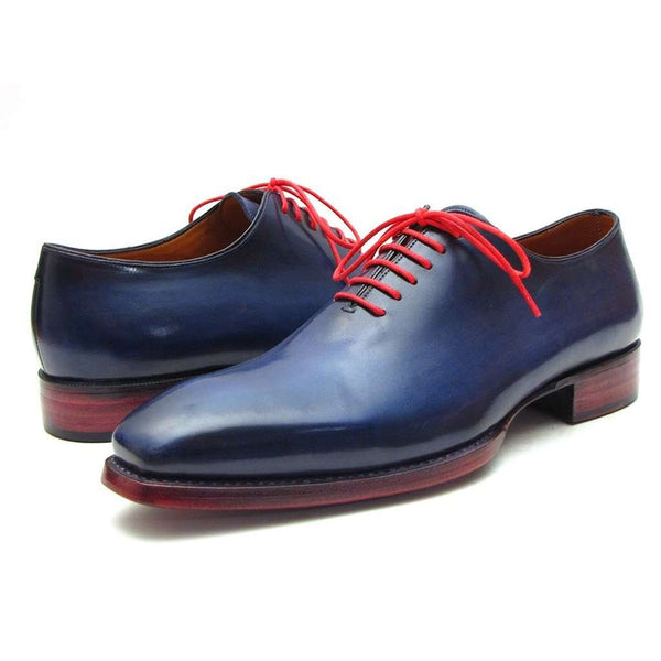 Paul Parkman Men's Goodyear Welted Wholecut Oxfords Navy Blue  (ID#044CR)
